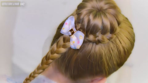 自带仙气的儿童编发教程,小女孩发型绑扎方法详细解读图片