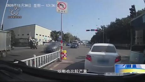 柳州:救护车被小车堵路 司机解释不知所措丨无锡