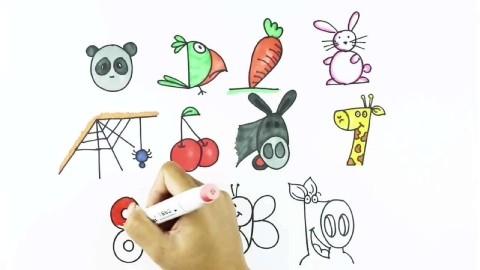属于动物植物的创意简笔画