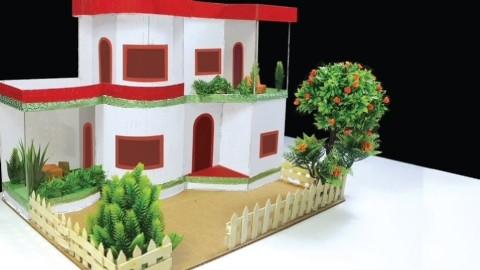 diy:美丽的纸板房子制作教程,亲子手工教程  03:08  网易视频 小灯笼