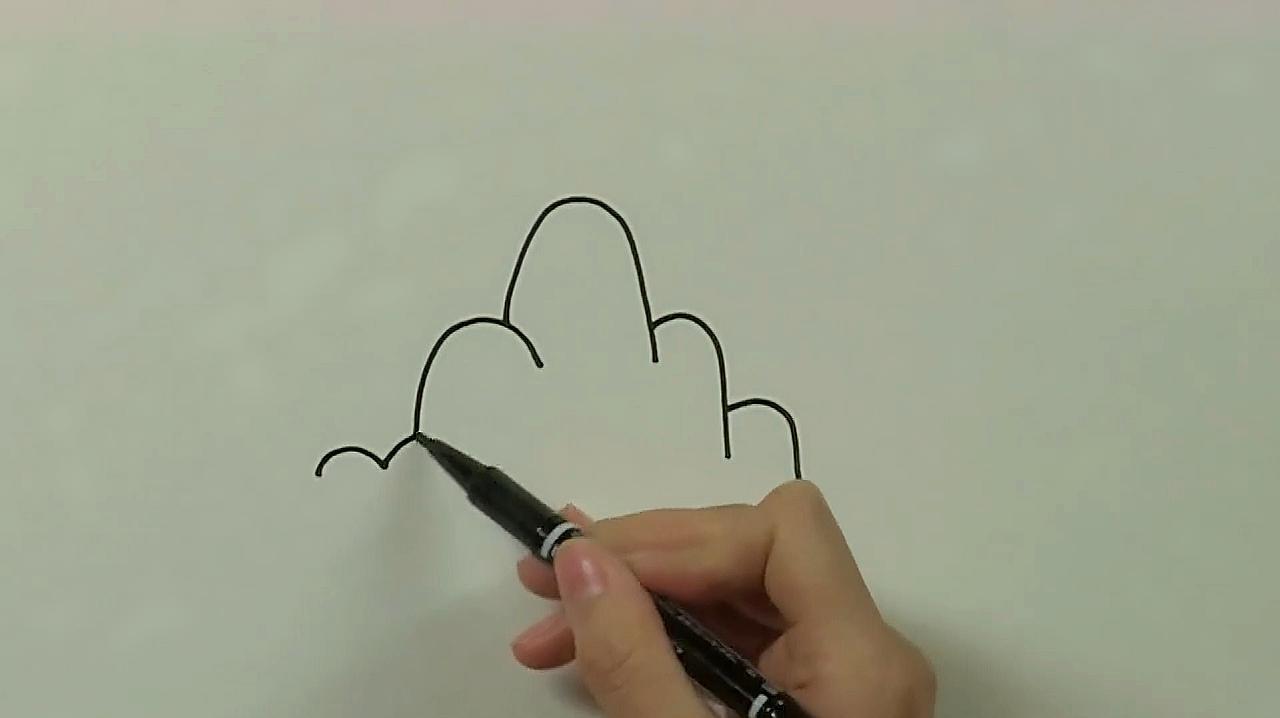 山怎么画简笔画图片