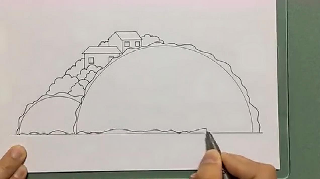 家乡风景画怎么画?