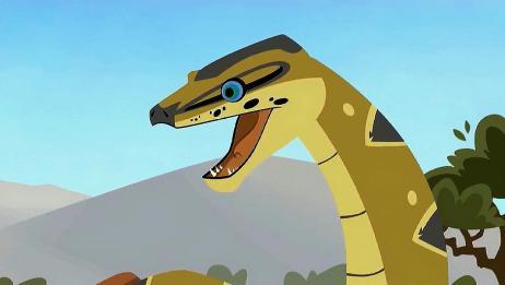 动物兄弟:克里斯变成超级巨蟒,克里斯认为没有动物会吃巨蟒!