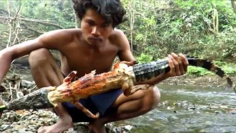 一个人吃一条鳄鱼,这才是真正的大胃王!