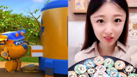 小姐姐直播吃彩色筹码糖果,看上去味道不错,网友:向往的生活