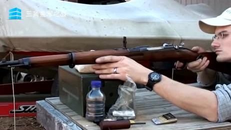 实弹射击:斯太尔曼利夏M95步枪测试,帅气十足