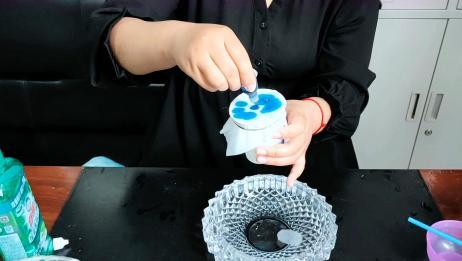 自制简易版泡泡机,感觉比水晶泥好玩多了,并且无硼砂哦