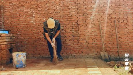 原来铺砖缝隙还可以用这种方法填,干完自己都惊呆了