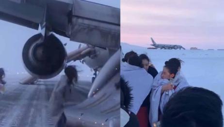 国航飞机遇火警迫降,乘客从应急滑梯逃生!原因让人无语