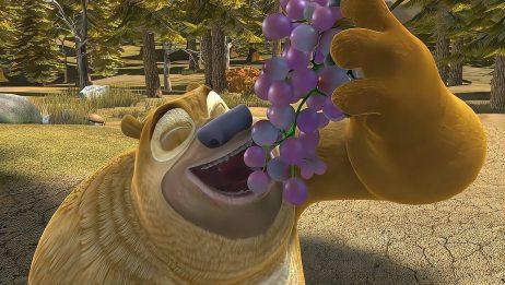 熊出没:熊二吃葡萄太香了,一口一大串,看得都流口水了
