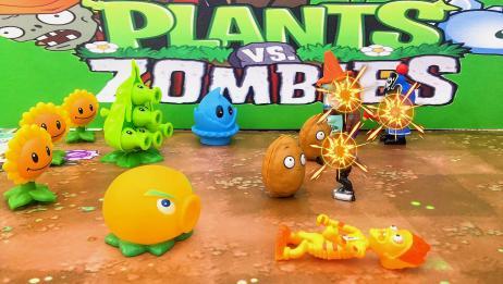 植物大战僵尸游戏!火爆辣椒坚果食人花成功保卫植物家园对战僵尸