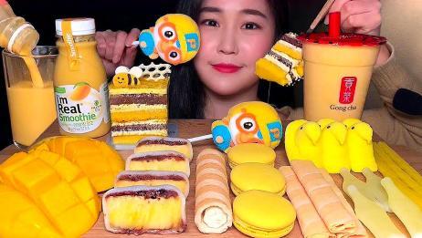 吃货小姐姐,吃饼干、蛋糕、芒果等,细嚼慢咽发出咀嚼音,真好听