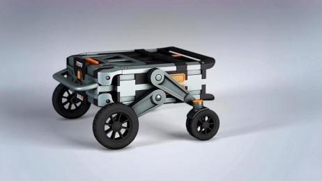 这手推车已经被设计到极致了,可以变成六种不同形态,智慧的结晶