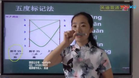 普通话声调视频 吴迪普通话教学视频 普通话视频系列教程 普通话培训课程