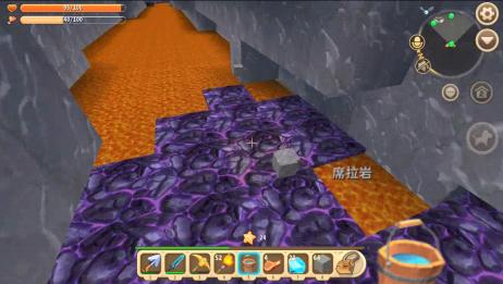 迷你世界联机 小伙伴掉进岩浆河 费了九牛二虎之力才爬上来