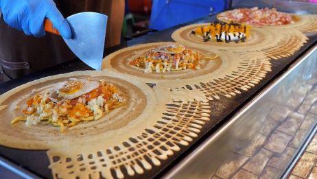 【泰国街头食品】泰国薄饼比萨饼
