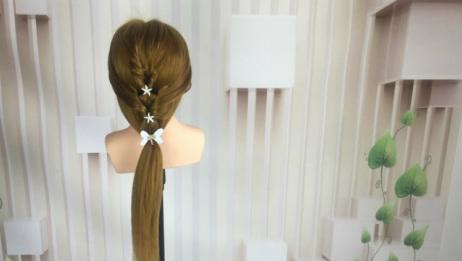 仙女范低马尾辫发型编发教程 ,仙范气质超撩人