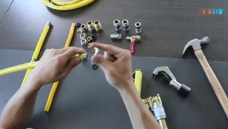云然_304不锈钢波纹燃气管安装制作视频