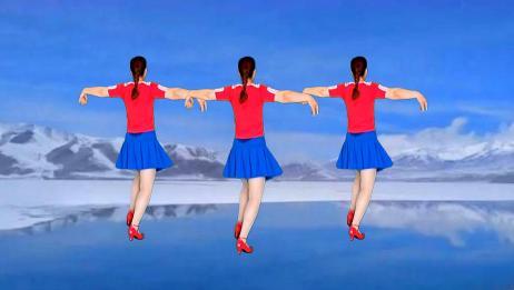 红姐背面演示简单易学健身操,每天坚持跳几遍,身体健康心情好