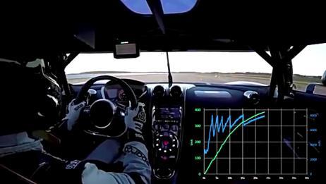 第一视角带你看科尼塞克one1有多快,25秒从0加速到400公里