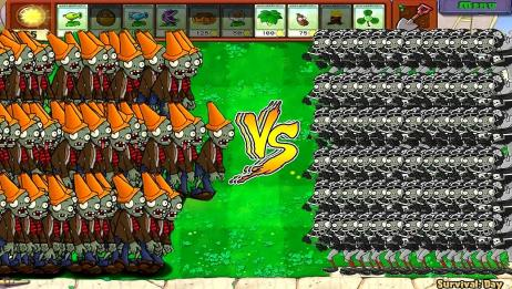 植物大战僵尸:放大版豌豆射手与爆炸坚果,威力会更大?