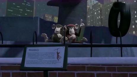 马达加斯加老大扮成鬼,竟把小毛吓坏了,老大真是过分