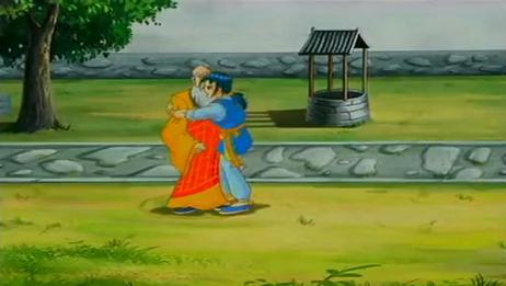 少林寺传奇:蓝天突然抱住延王使出虎拳,结果让他傻眼