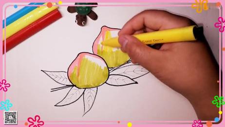 桃子简笔画 水果简笔画 简笔画教程