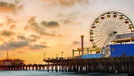 15分钟带你逛洛杉矶圣莫尼卡海滩【路人甲的云旅行第1期】
