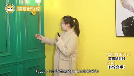 6㎡小户型客厅这样装,绿色背景墙搭配宝蓝色沙发,温馨活力!