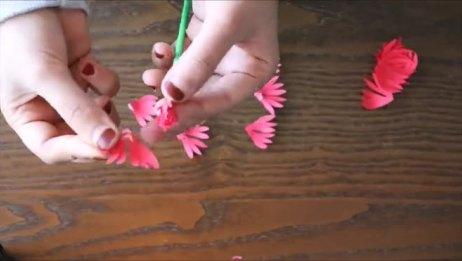 制作纸花菊花的简易方法——手工DIY手工