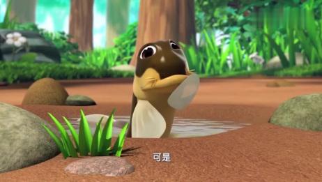 萌鸡小学堂:小萌鸡有办法,帮助小泥鳅回家,看见就要帮忙