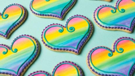 情人节彩虹水彩饼干【SweetAmbsCookies】  20200130