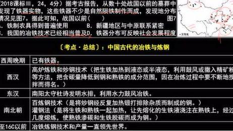 (2018课标Ⅲ,24,4分)中国古代的冶铁与炼钢