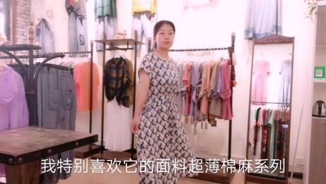 为什么店里老顾客都选择这款简约大方超薄棉麻连衣裙,一起看看