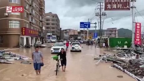 """超强台风""""利奇马""""丨台风洗劫后的温州乐清大荆镇满目狼藉"""
