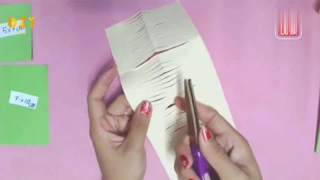 手工纸花教学,图案z2005菊花的制作方法