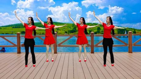广场舞《花开的时候你就来看我》悦耳动听的歌曲,舞步抒情又优美