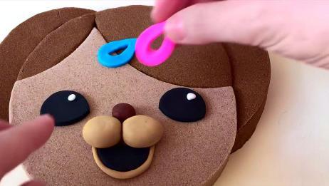 可爱的熊姑娘,捏得好逼真,看了都羡慕,手工彩泥制作