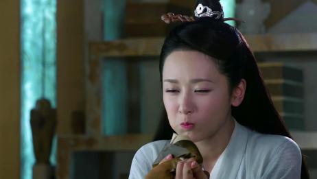 锦觅为了得到五百年灵力,吃了二十个粽子,最后又气又撑