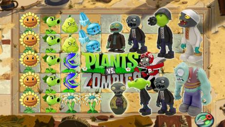 植物大战僵尸游戏!回旋镖食人花坚果对战巨人僵尸