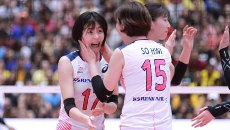 2019韩泰女排全明星赛韩国2:3泰国全场HL,你都认识谁?