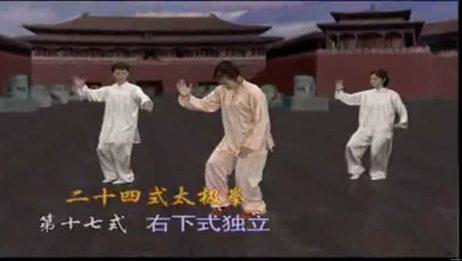 二十四式太极拳吴阿敏分解教学:第1617式