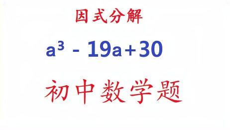 初中数学:因式分解a³19a+30