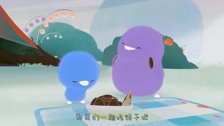 小鸡彩虹:小蓝把饼干当成眼镜,天黑了吗?