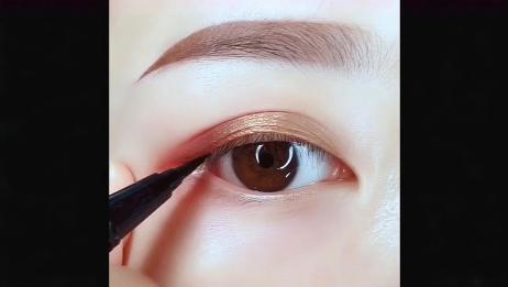 美妆达人:慢动作,教你画眼线,不要再说你不会画眼线了