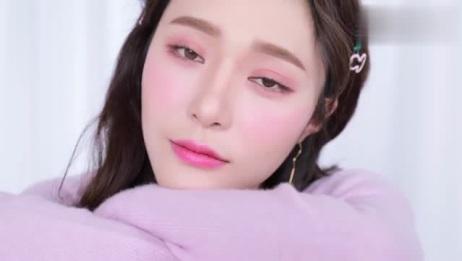 韩系少女荧光粉妆容,荧光色不是灾难色!可以get到它的美了