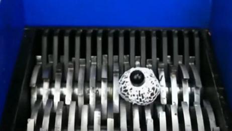 将解压球放到粉碎机里,它最后会变成什么样子?