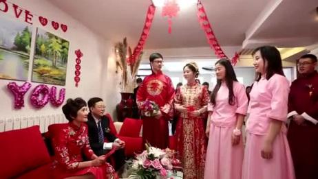 新娘结婚过于紧张,一不小心说错话 ,把新郎都带跑偏了