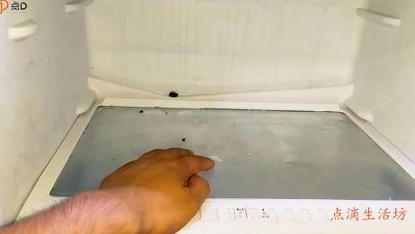 冰箱冷藏室有好多水怎么回事?教你一招,马上就修好,方法真简单